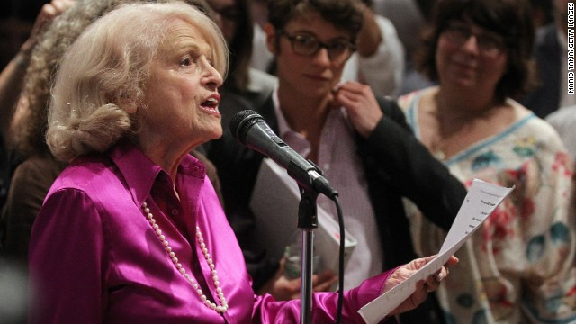 United States v. Windsor (2013): When her wife died in 2009, Edith Windsor, 84, was forced to pay hundreds of thousands of dollars in estate taxes because her marriage was not recognized by the federal government's Defense of Marriage Act of 1996. The Supreme Court struck down the part of the law which denied legally marriage same-sex couples the same federal benefits provided to heterosexual spouses.