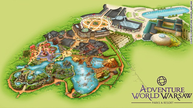 There will be five zones at Warsaw's Adventure World theme park, along with a water park. The Old Town brings to life various creatures from Polish folklore. <!-- --> </br><strong>Opening date</strong>: August 2015.