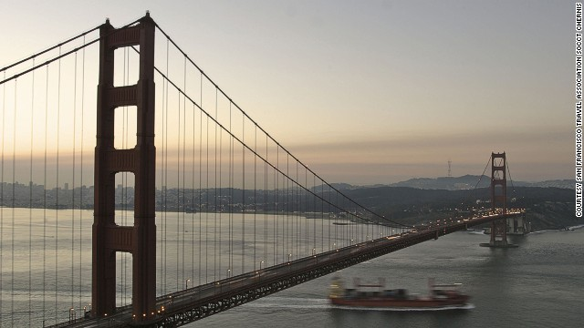 After a tour of Los Angeles, passengers travel by boat to San Francisco and then fly to China.