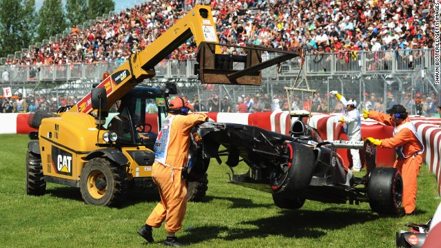 The important role of motorsport's marshals has been highlighted by the death of Canadian Mark Robinson as Esteban Gutierrez's Sauber was removed from the track after the 2013 Canadian Grand Prix.