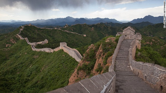 Another side trip takes travelers to the Great Wall of China, just outside Beijing.