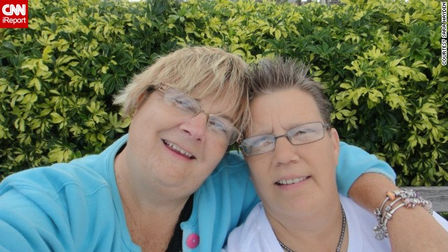 "Sara Hayden, left, and partner Darcy Schriever hope the ruling means ""we <a href='http://ireport.cnn.com/docs/DOC-995822'>have a chance to open the door</a> (for same-sex marriage) in Florida."""