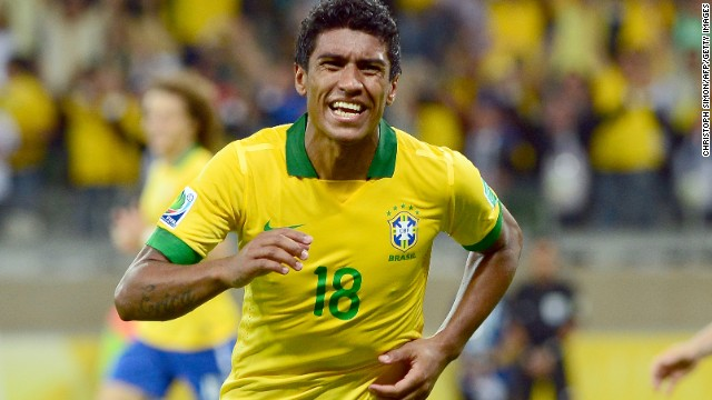 Paulinho's late strike sent Brazil through to the final where it will face either Spain or Italy.
