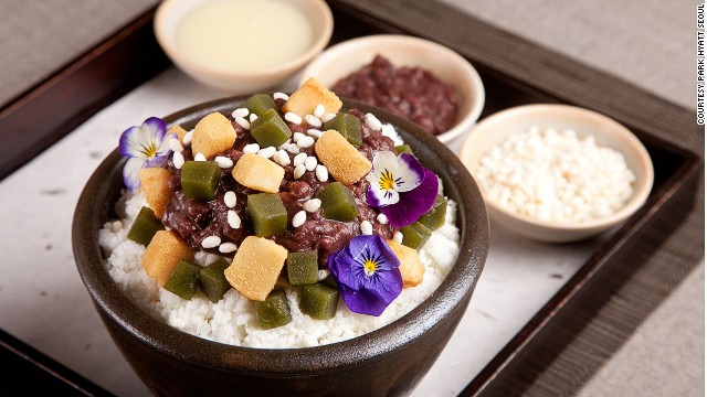 Bingsu at Park Hyatt Seoul.