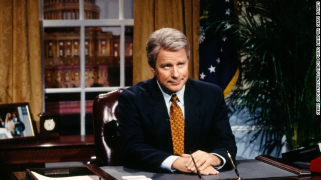 "Phil Hartman rose to fame for his impersonations including President Bill Clinton on ""Saturday Night Live,"" but he was starring on the sitcom ""NewsRadio"" when he was shot to death by his wife in 1998. Actor Jon Lovitz replaced him."