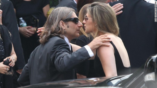Actor Michael Imperioli attends the funeral.
