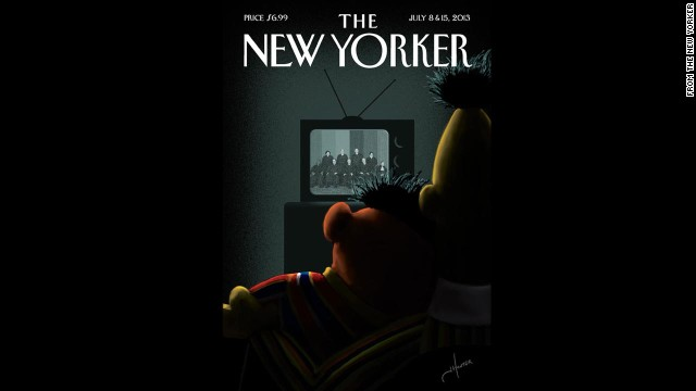 The New Yorker's July 8 and 15, 2013, issue is in response to the Supreme Court's ruling on two same-sex marriage cases. The publication has been one of several magazines in the past several years that has made headlines with its gay and lesbian themed covers.