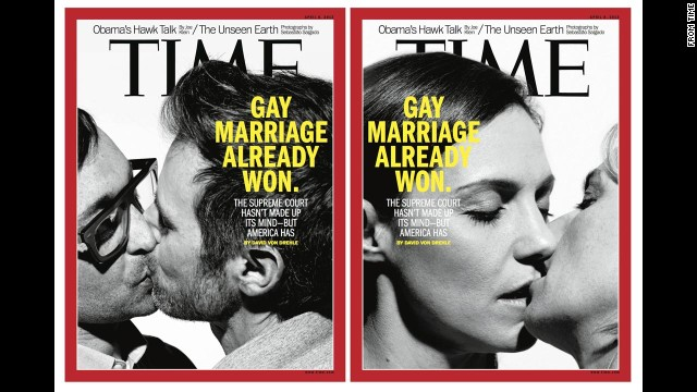 Time magazine's April 8 double cover drew controversy as the Supreme Court took up two cases centered on same-sex marriage laws.