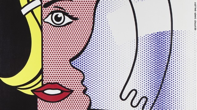 'Puzzle Portrait' 1978 by Roy Lichtenstein. Exhibited at Masterpiece by Geoffrey Diner Gallery.