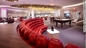 You can shoot a game of pool at the Virgin Atlantic Club House in JFK.