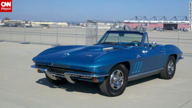 "At almost every gas station he stops at, <a href='http://ireport.cnn.com/docs/DOC-996123'>Calvin Burgart </a>says people ask him if he is selling his 1966 Corvette Roadster in Nassau blue. ""This spring, I turned 70 years old and I still have the car. It looks and runs the same, I look and run a lot different,"" he said."
