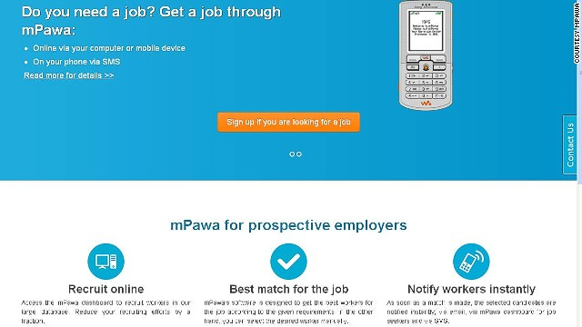 """<a href='http://mpawa.com/' target='_blank'>mPawa</a> matches employers with potential employees via skills and experience. It's also SMS-based, which is ideal given that much of Africa is mobile-only."""
