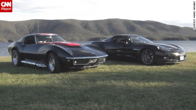 "<a href='http://ireport.cnn.com/docs/DOC-996059'>Agnes Grubbs</a> and her son Mack own three Corvettes, a '68 Stingray, a '91 Coupe and a 2010 Grand Sport. They have been participating in car shows for the last 3 years and she says the reactions they get from people are amazing. ""Especially the kids. In some of the shows, we let kids and adults sit inside. The looks are priceless,"" she said."
