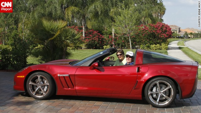"<a href='http://ireport.cnn.com/docs/DOC-996635'>Eddie Hicks </a>sits outside his drive in Bradenton, Florida, with his 2013 Sport Coupe. ""All sports cars look good, but a Corvette is truly 'America's Sports Car,'"" he said."