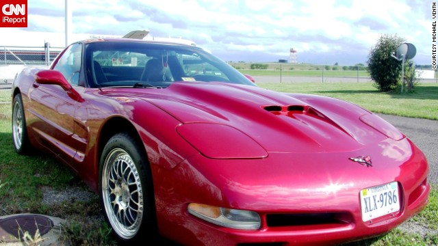 "<a href='http://ireport.cnn.com/docs/DOC-995996'>Michael Venth</a> owns a 2001 Corvette in candy apple red. ""Dollar-for-dollar, the Chevy Corvette is the best sports car on the planet and it's made in the United States,"" he said."