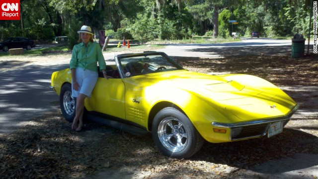 "<a href='http://ireport.cnn.com/docs/DOC-996762'>Manny Gonzalez </a>photographed his wife standing next to his 1970 Corvette LT-1 Convertible. He's proud to say he is the original owner, purchasing the car in August 1970. ""This Corvette has a lot of history and many great memories, but it was the beast that it is, that gave me goose bumps. Fast with great handling."""