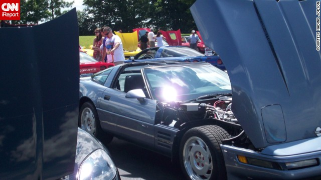 "<a href='http://ireport.cnn.com/docs/DOC-997014'>Nadine Jopson </a>photographed Misty, her 1991 Corvette Coupe, getting ready for a parade in Greece, New York, back in 2012. ""She loves hanging out with other 'vettes,"" she said."