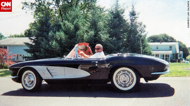 "<a href='http://ireport.cnn.com/docs/DOC-995752'>Lon Solomita</a> cruising down Waterbury, Connecticut, in his 1961 Corvette. ""The first time I purchased a Corvette, I was 24. The guy who sold it to me said, 'You will always have to have one.' He was right. I am going onto purchasing my 10th Corvette,"" he said."