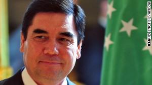 Turkmen President Gurbanguly Berdymukhamedov at a news conference in 2012.