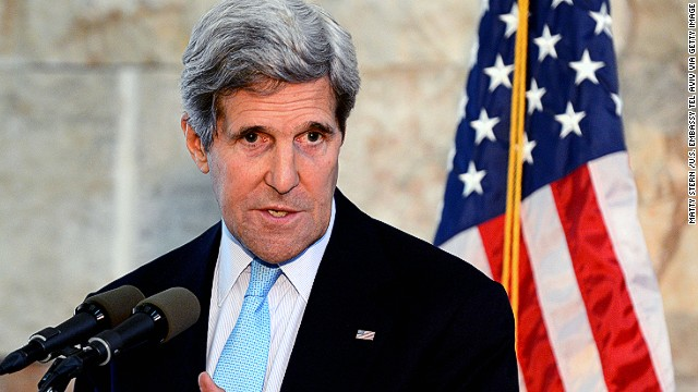Secretary of State John Kerry speaks during a news conference at on Sunday, June 30, in Tel Aviv, Israel.