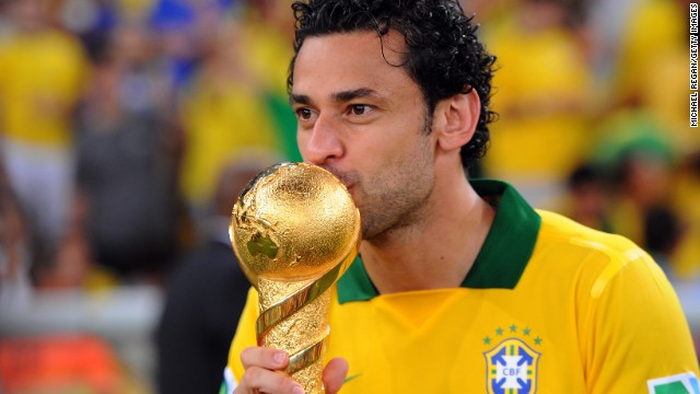 In the end, two goals from Fred (pictured) and Neymar gave Brazil an emphatic win over the World and European champions.