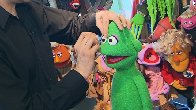 """A lot of Sesame Street characters have eyes that are very close to each other,"" says Weber. ""When you look straight at them they are quite cross-eyed but what they're trying to do is make contact with the camera... They are making that connection with their audience, which is quite important."""