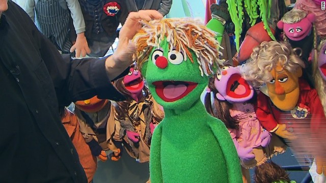 """This is made out of various types of yarns that we've found over the years,"" Weber says. ""He's very alive, he's very energetic, he's a little messy, he might be a young child that doesn't want to comb his hair in the morning."""