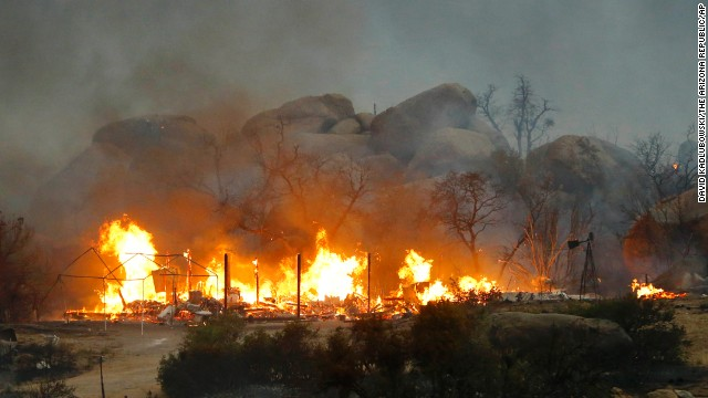 19 elite firefighters were killed in the Yarnell Hill fire in June this year.