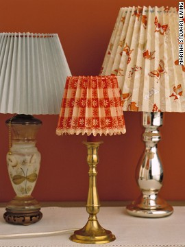 Found a lamp with a base you love but a shade that's just not right? Update it with a custom-pleated paper shade that fits right over the old one.