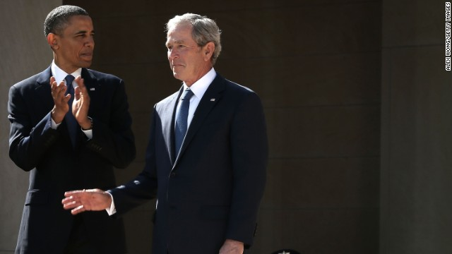 As Obama considers Syria strikes, Bush and Carter weigh in