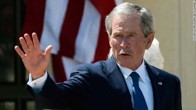 Bush says working with vets helps him cope
