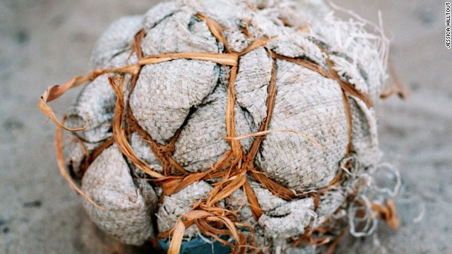 Footballs are made from anything from clothes to old bags. Often their lifespan is short despite being handled as precious possessions.