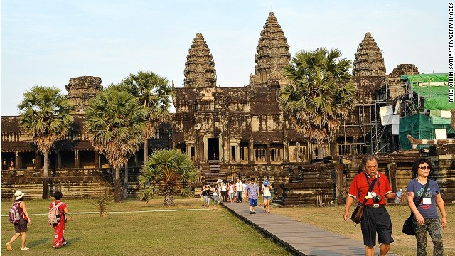 Magnificent Angkor Wat is indeed stunning. But you'll rarely have it completely to yourself.