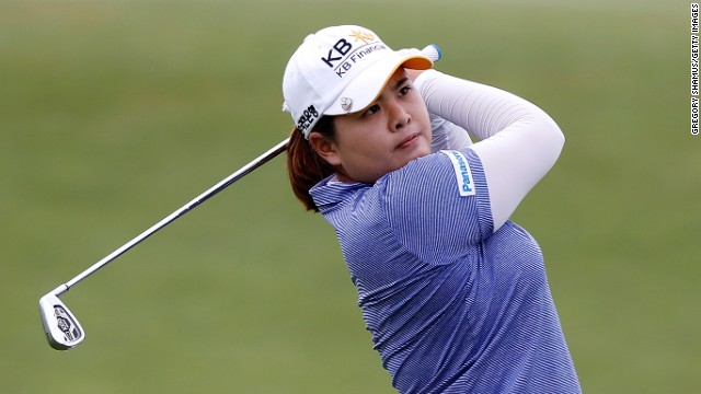 South Korea's Inbee Park is in line to become the first golfer to win four professional majors in one year.