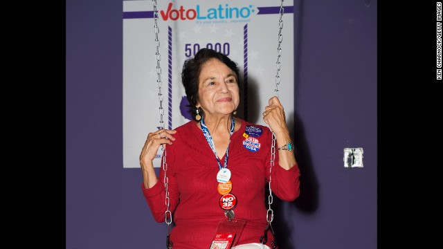 Huerta attends Voto Latino's Purple Carpet Bash at All American Pub on September 5, 2012, in Charlotte, North Carolina.