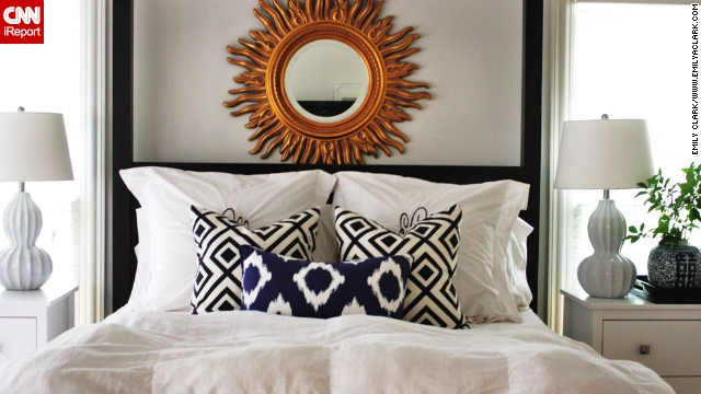 <a href='http://ireport.cnn.com/docs/DOC-996375'>Emily Clark</a> from Charlotte, North Carolina, likes to keep her bedroom simple. Calming yet fresh white walls and sheets allows her to give her busy mind a rest. To see where the room started and it's slow-but-steady progress, <a href='http://emilyaclark.blogspot.com/2012/04/glimpse-at-our-master-bedroom.html' target='_blank'>check out her blog</a>.