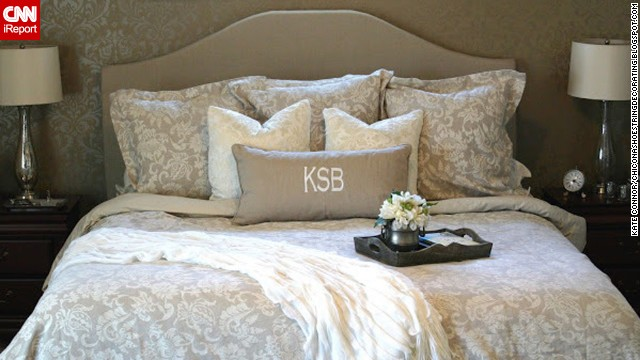 <a href='http://ireport.cnn.com/docs/DOC-996219'>Kate Connor</a> from Illinois loves a high-end look but hates the price that comes with it. A designer headboard inspired her to create her own, which she even created a tutorial for on her blog <a href='http://chiconashoestringdecorating.blogspot.com/2012/03/how-to-make-upholstered-headboard.html' target='_blank'>Chic on a Shoestring Decorating</a>.