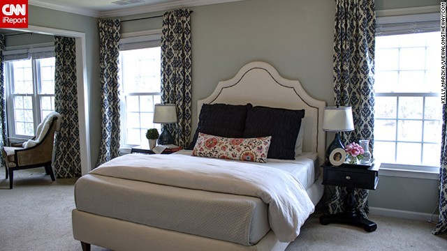 <a href='http://ireport.cnn.com/docs/DOC-995709'>Kelly Marzka</a> of Atlanta built and upholstered this chic bed with her husband. It cost less than $300, she said, and she created a tutorial for the entire project on her blog, <a href='http://www.viewalongtheway.com/2013/06/how-to-build-an-upholstered-bed/' target='_blank'>View Along the Way</a>.