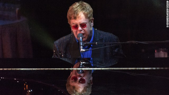 Sir Elton John performs on stage during the 2013 Carnegie Hall Medal Of Excellence Gala in New York City.