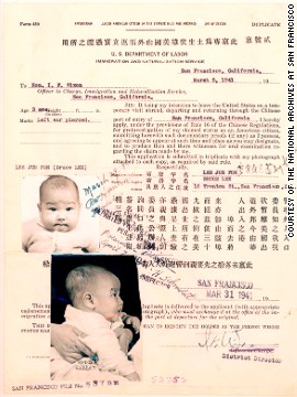 Born Lee Jun-fan in San Francisco in 1940, Lee moved to Hong Kong when he was an infant and remained there until his late teens. This is a replica of Lee's application form for an American Citizen's Return Certificate, which would allow him to return to the country of his birth.