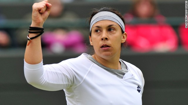 France's Bartoli booked her place in the last four with a 6-4 7-5 win over U.S. star Sloane Stephens in a contest delayed by rain. Bartoli, who was runner up in 2007, will now hope to go one better with 20th seed Flipkens next up.