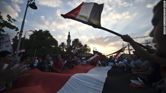 Egyptian demonstrators have been calling for President Morsy to step down.