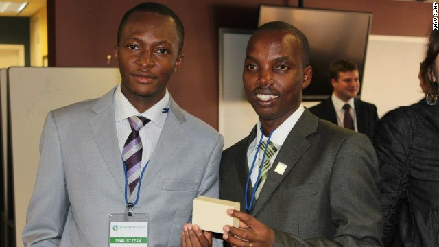 Moctar Dembele and Gerard Niyondiko are the creators of Fasoap, a soap designed to help tackle malaria.