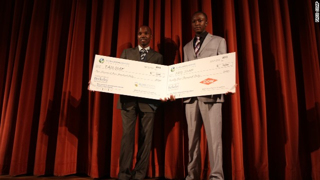 Dembele and Niyondiko, who are students at the International Institute for Water and Environmental Engineering in Burkina Faso, are the first Africans to win the $25,000 Grand Prize Global Social Venture Competition.
