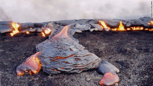 "Kilauea means ""spewing"" or ""much spreading"" in Hawaiian."