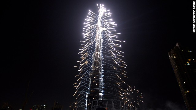The Burj Khalifa was officially opened on Jan 4, 2010 with a spectacular fireworks show. It was held 1,325 days after excavation work started, and was attended by over 6,000 guests.