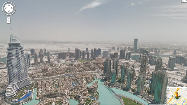 Google Street View captures the view from the world's ... Burj Khalifa From Top Floor