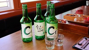 Busan variations of soju.