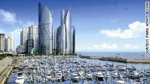 Park Hyatt Busan: latest addition to Busan\'s Marine City.