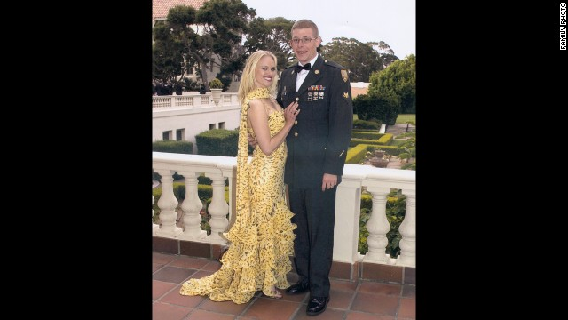 Daniel and Angel before a military ball in Phoenix. Angel studied nursing during Daniel's first deployment and often assisted him in getting medical treatment and therapy in the private sector when he was unable to be seen by the VA.
